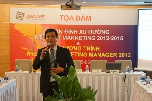 Ông Trương Văn Quý, Tổng giám đốc của EQVN trình bày tại buổi tọa đàm